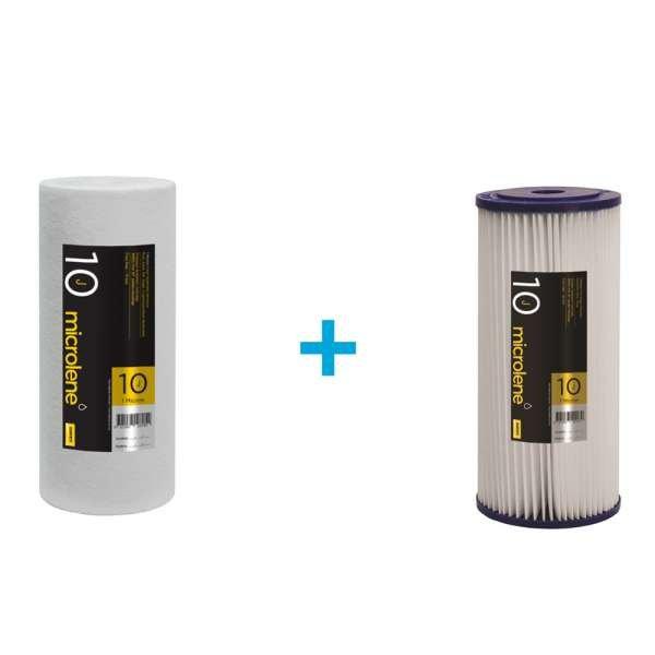 Microlene Poly Pleated & Poly Spun Sediment Cartridges - 20PP10J/1PS10J
