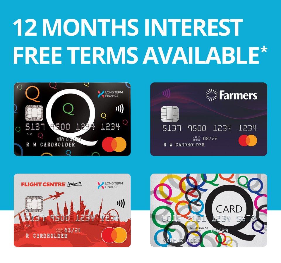 12 Months Interest Free Banner