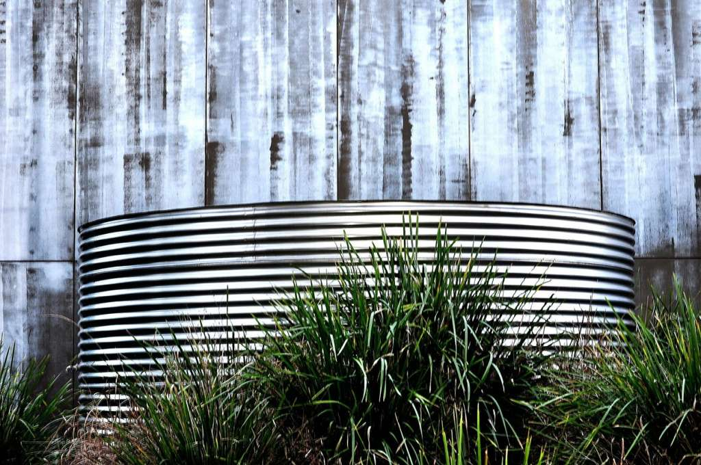 Corrugated rainwater tank