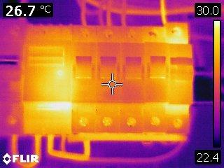 Thermal imaging camera results
