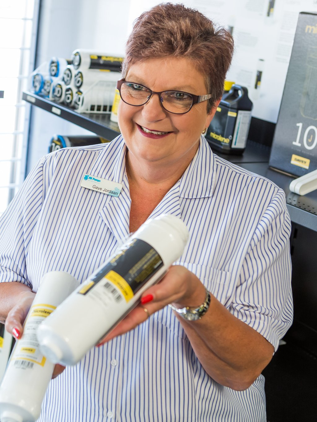 Gaye Jordaan, Warehouse, Stock Control and Health & Safety