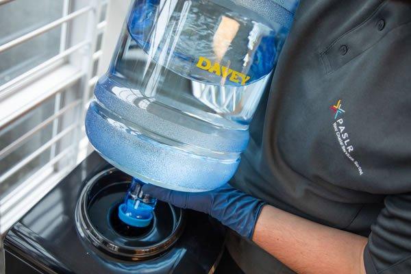 Water cooler servicing