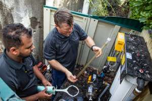 Whole house filtration system servicing