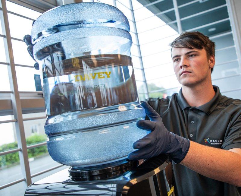 Water cooler servicing and sanitation