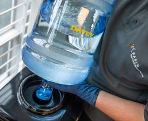 Water cooler water bottle replacement