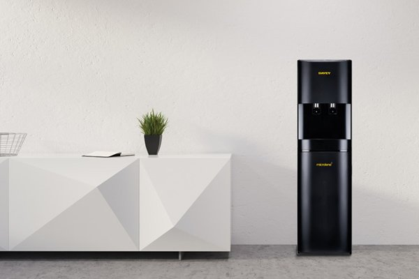 Black watercooler in office - support water coolers