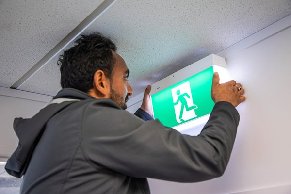 Emergency and exit light maintenance - support lighting