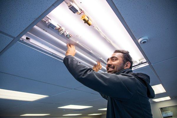 Soft office lighting installation