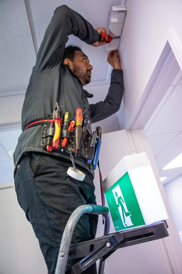 Emergency and exit light maintenance and testing