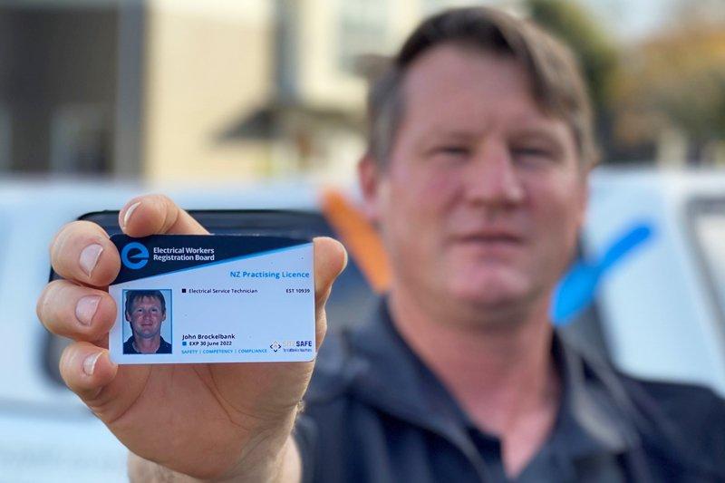 Technician Electrican Workers Registration Board card